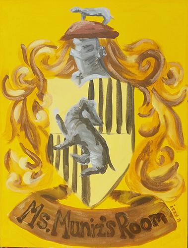 Commissioned Artwork Crest for Ms. Muniz's Room