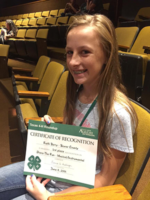 Texas 4H Performance Winner